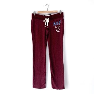 Abercrombie & Fitch Maroon Sweatpants